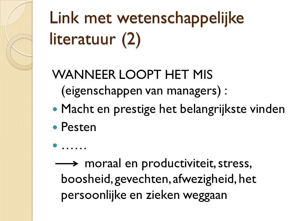 Link met wetenschappelijke literatuur (2)