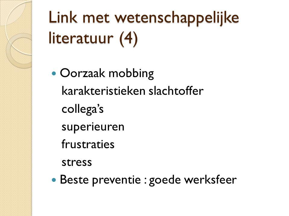 Link met wetenschappelijke literatuur (4)