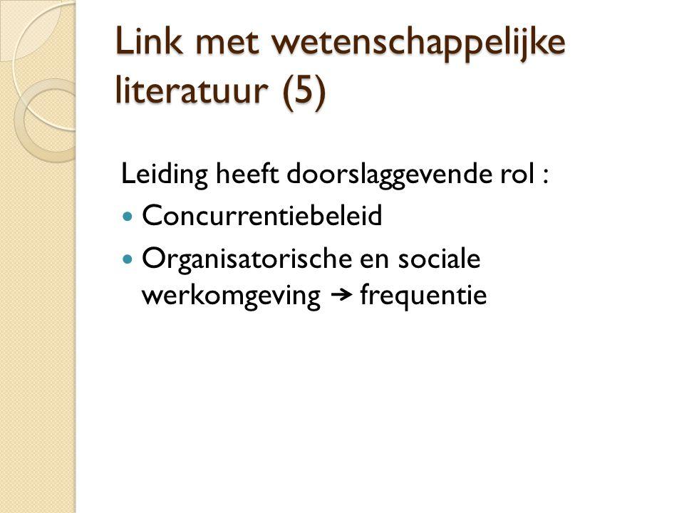Link met wetenschappelijke literatuur (5)