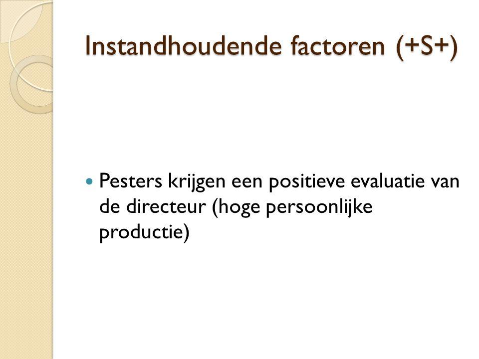 Instandhoudende factoren (+S+)