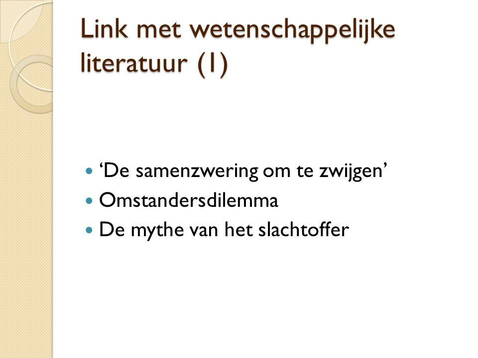 Link met wetenschappelijke literatuur (1)