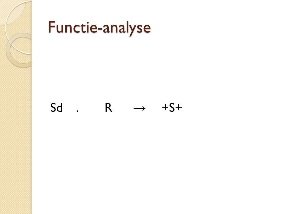 Functie-analyse Sd . R → +S+
