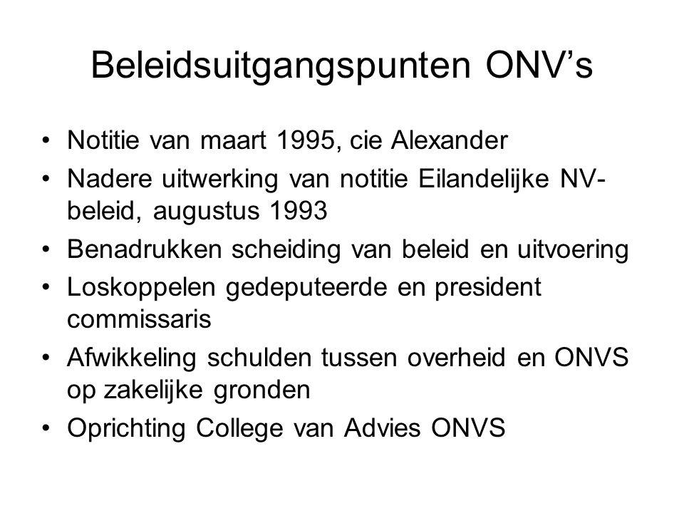 Beleidsuitgangspunten ONV's