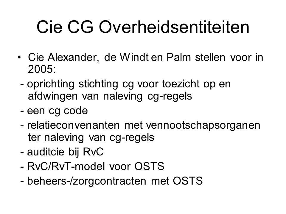 Cie CG Overheidsentiteiten