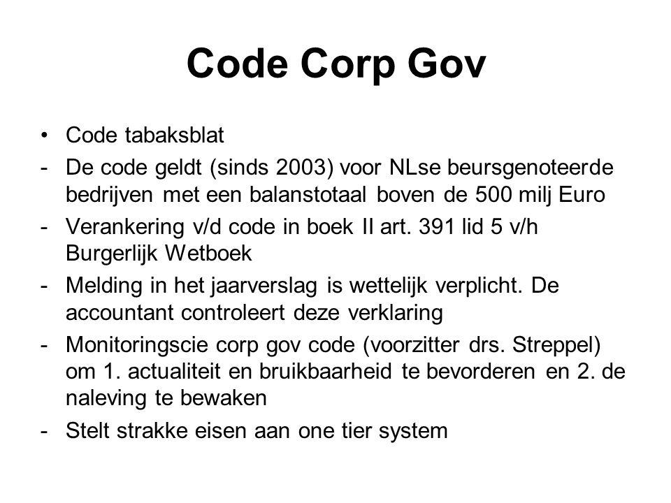 Code Corp Gov Code tabaksblat