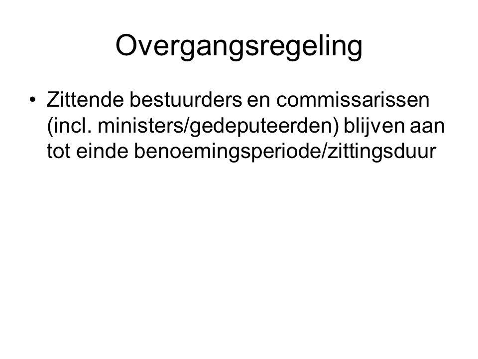 Overgangsregeling Zittende bestuurders en commissarissen (incl.