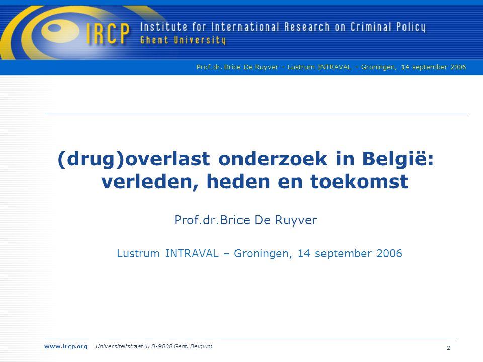 (drug)overlast onderzoek in België: verleden, heden en toekomst