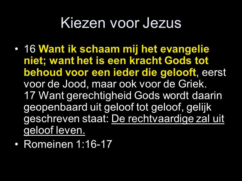 Kiezen voor Jezus