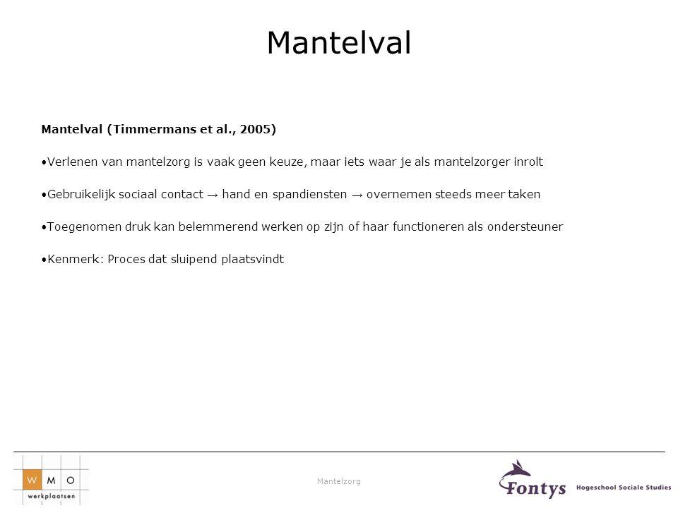 Mantelval Mantelval (Timmermans et al., 2005)