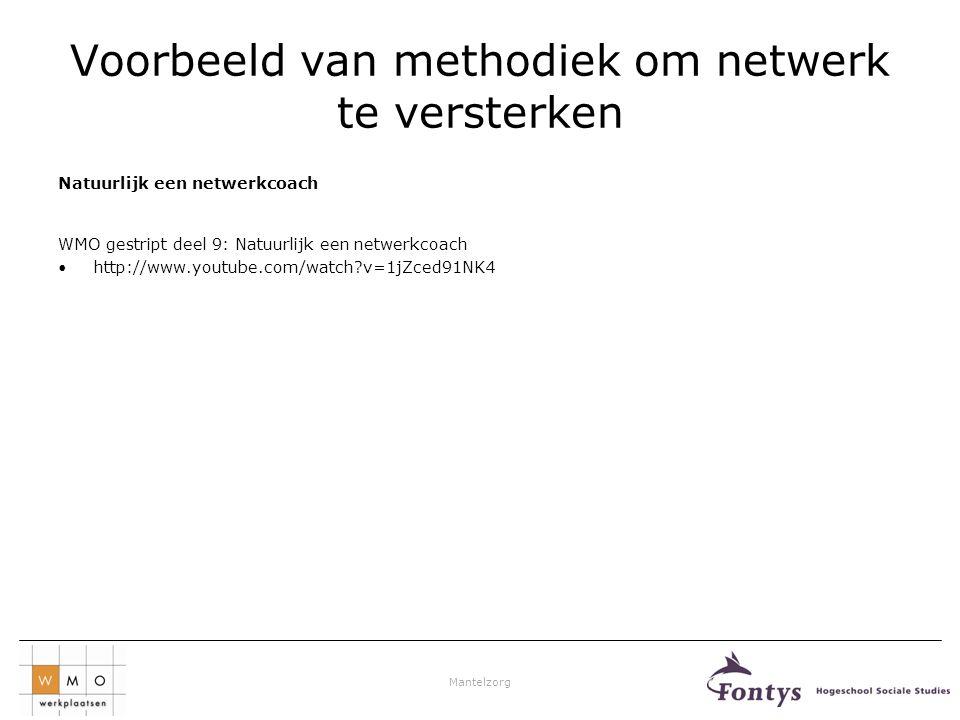 Voorbeeld van methodiek om netwerk te versterken
