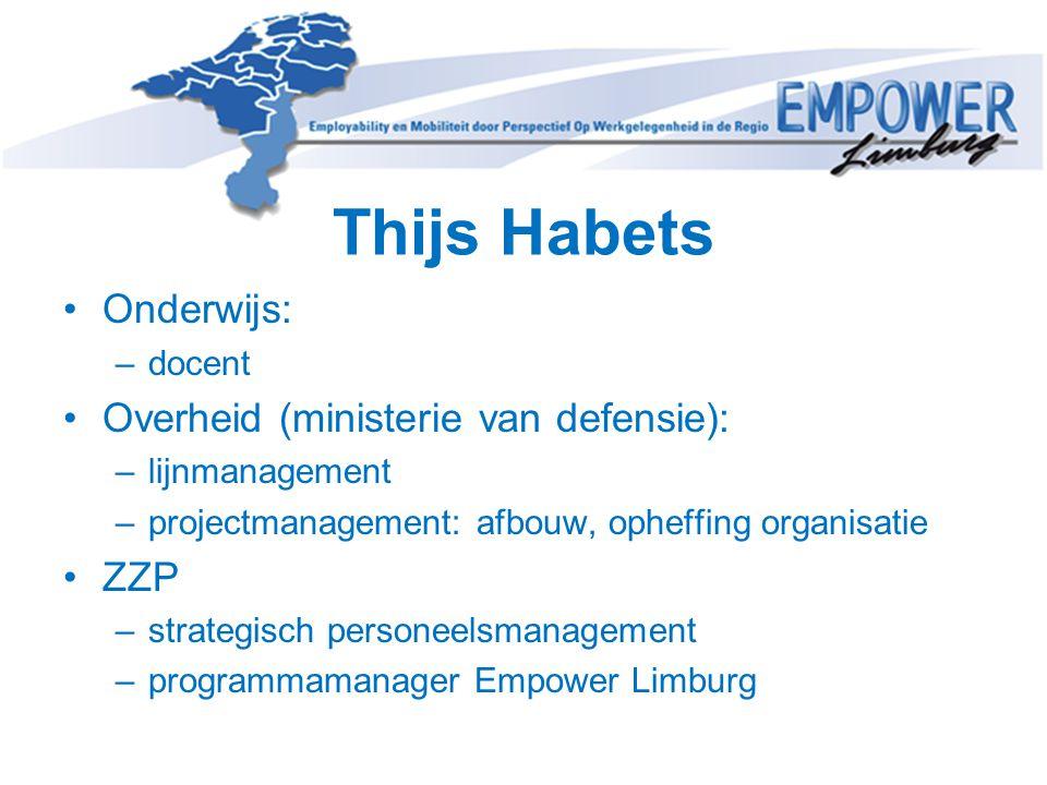 Thijs Habets Onderwijs: Overheid (ministerie van defensie): ZZP docent