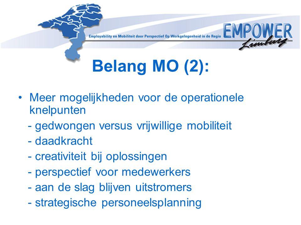 Belang MO (2): Meer mogelijkheden voor de operationele knelpunten
