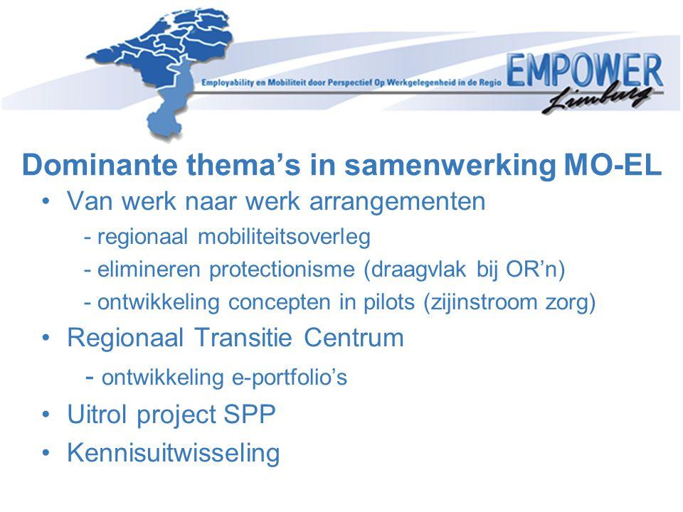 Dominante thema's in samenwerking MO-EL