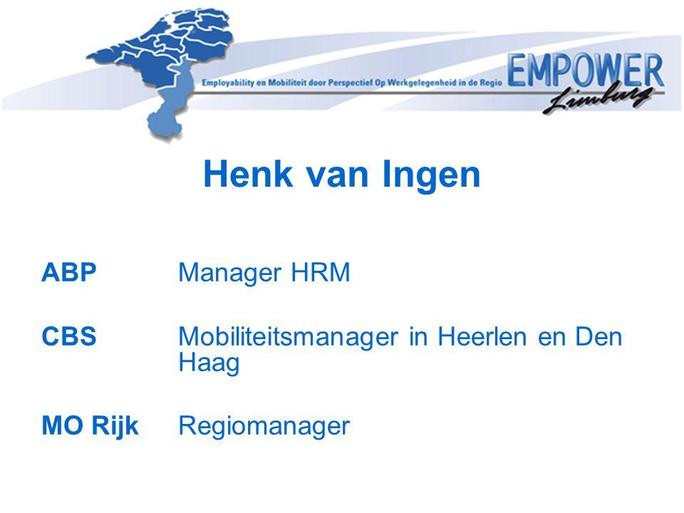 Henk van Ingen ABP Manager HRM