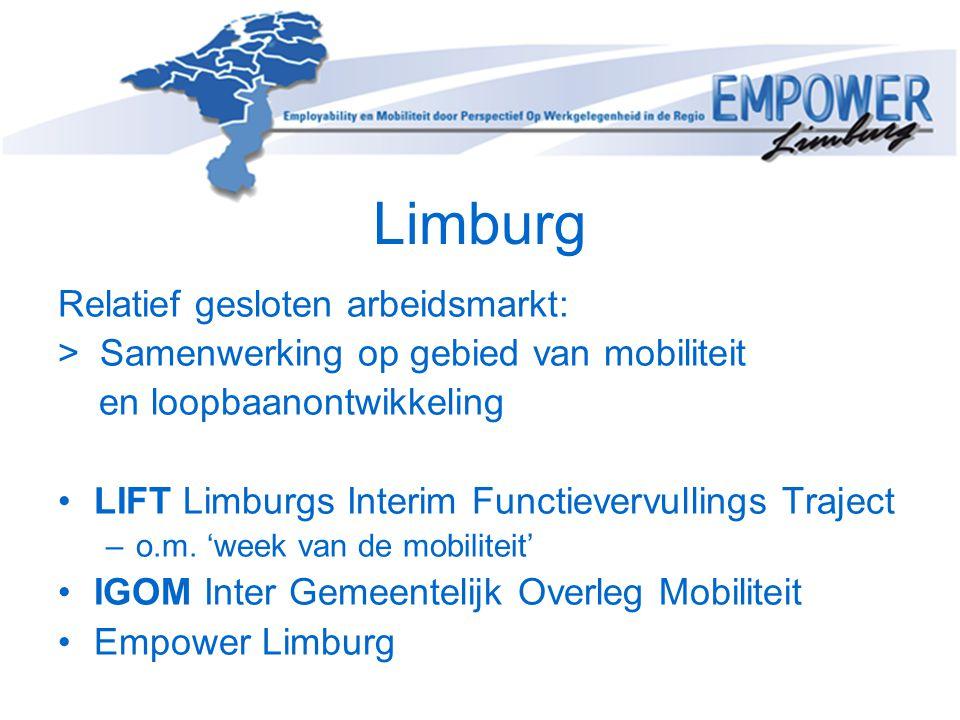 Limburg Relatief gesloten arbeidsmarkt: