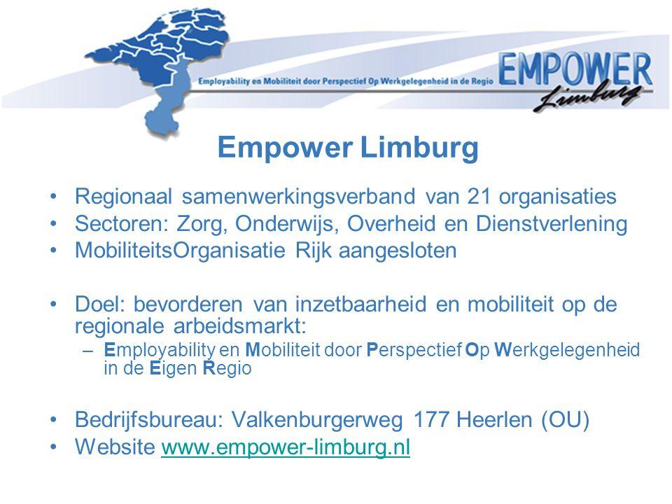 Empower Limburg Regionaal samenwerkingsverband van 21 organisaties