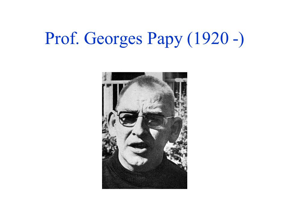 Prof. Georges Papy (1920 -)