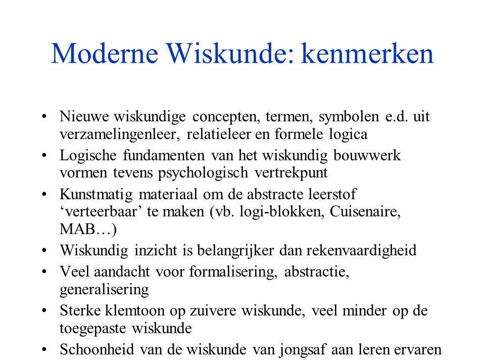 Moderne Wiskunde: kenmerken