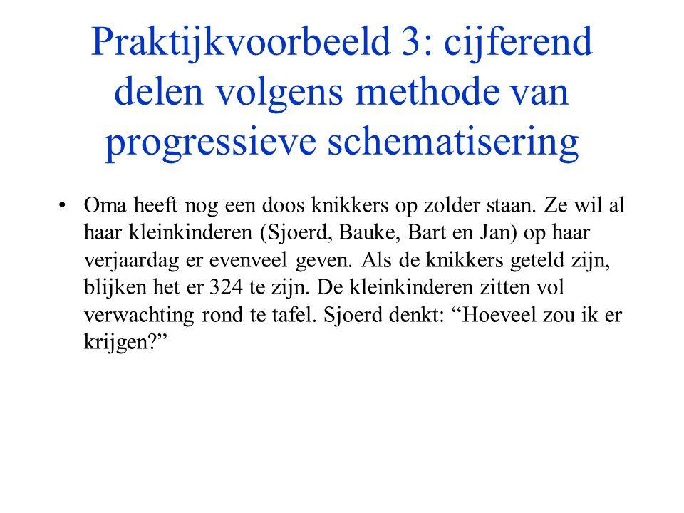 Praktijkvoorbeeld 3: cijferend delen volgens methode van progressieve schematisering