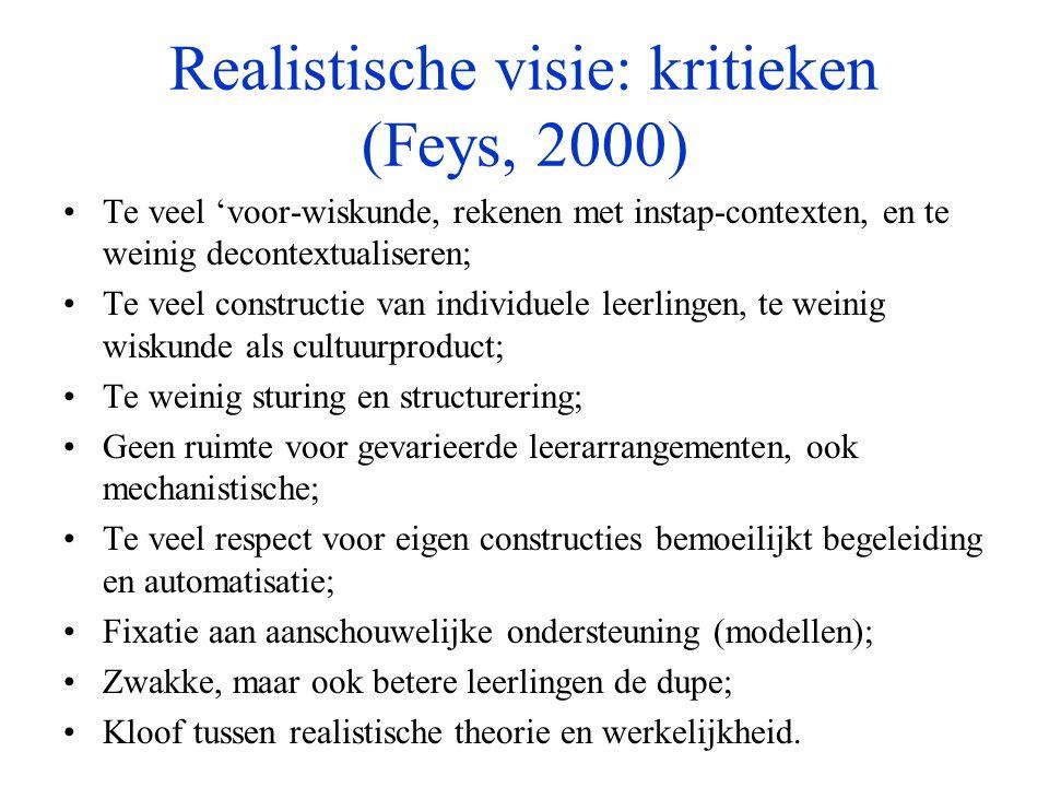 Realistische visie: kritieken (Feys, 2000)