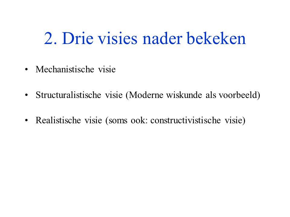 2. Drie visies nader bekeken