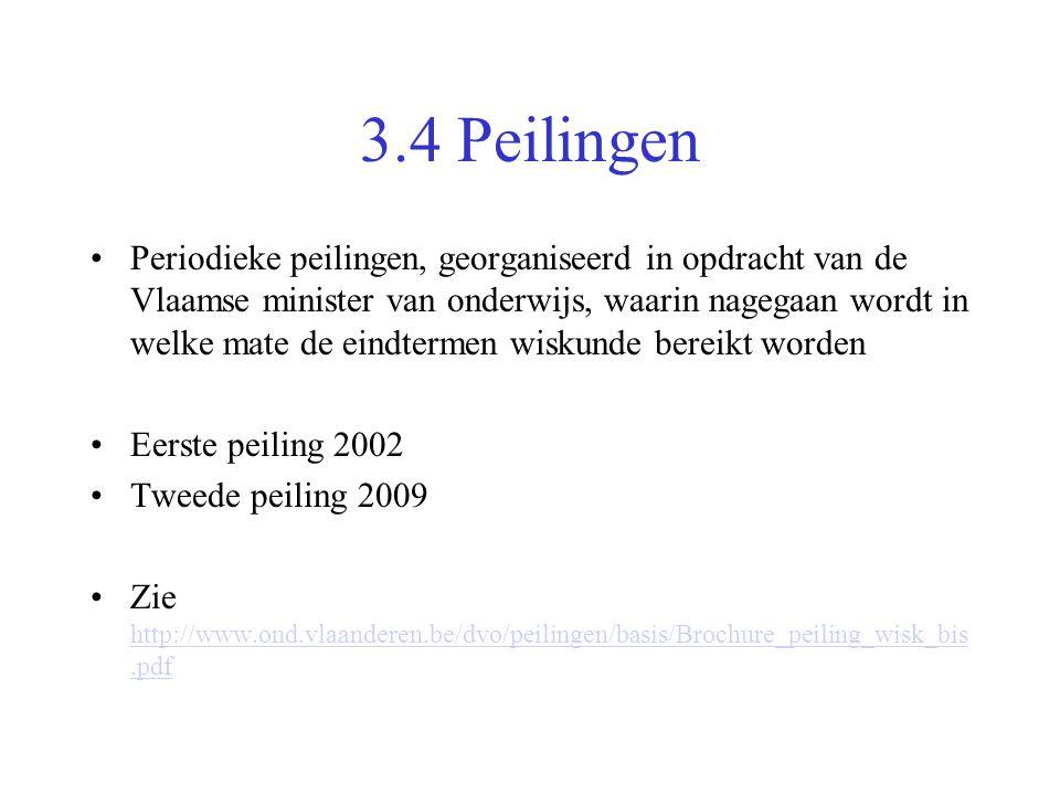 3.4 Peilingen