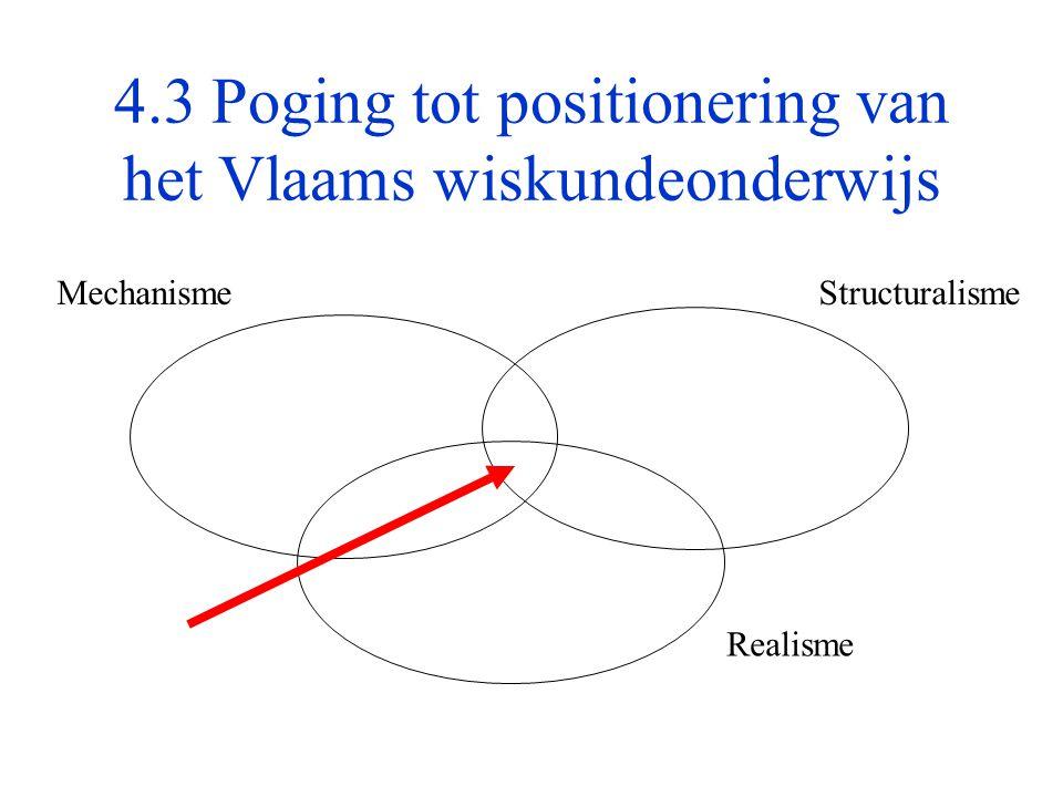 4.3 Poging tot positionering van het Vlaams wiskundeonderwijs