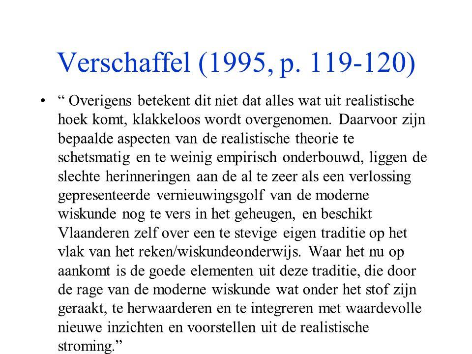Verschaffel (1995, p. 119-120)