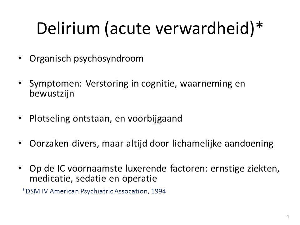 Delirium (acute verwardheid)*