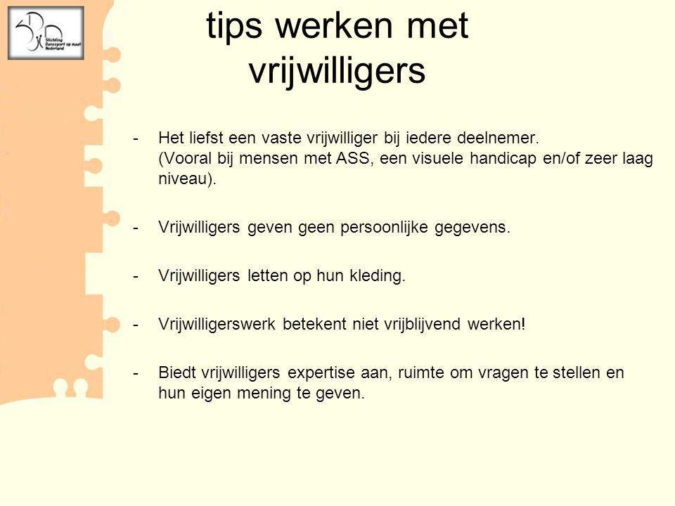 tips werken met vrijwilligers