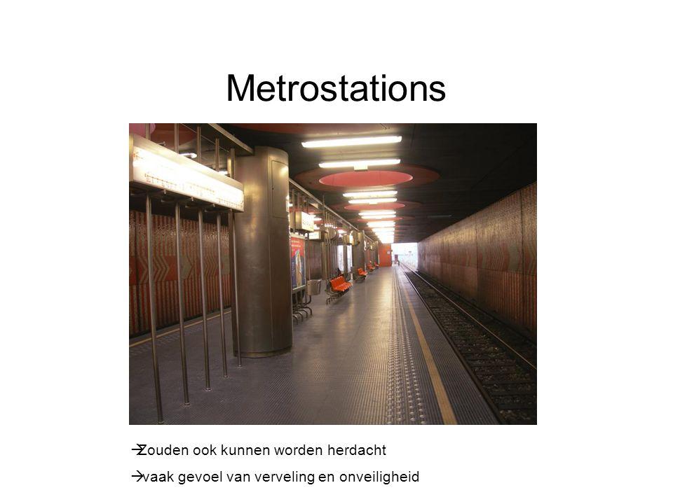 Metrostations Zouden ook kunnen worden herdacht
