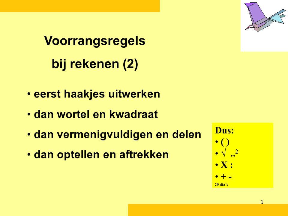 Voorrangsregels bij rekenen (2)
