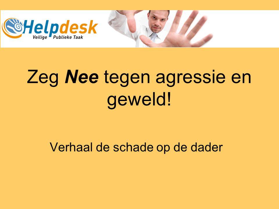 Zeg Nee tegen agressie en geweld!