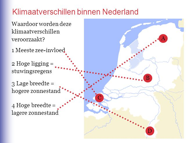 Klimaatverschillen binnen Nederland
