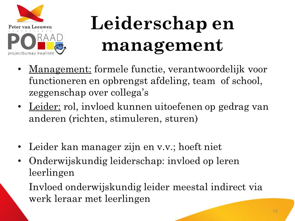 Leiderschap en management