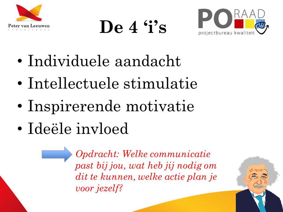 De 4 'i's Individuele aandacht Intellectuele stimulatie
