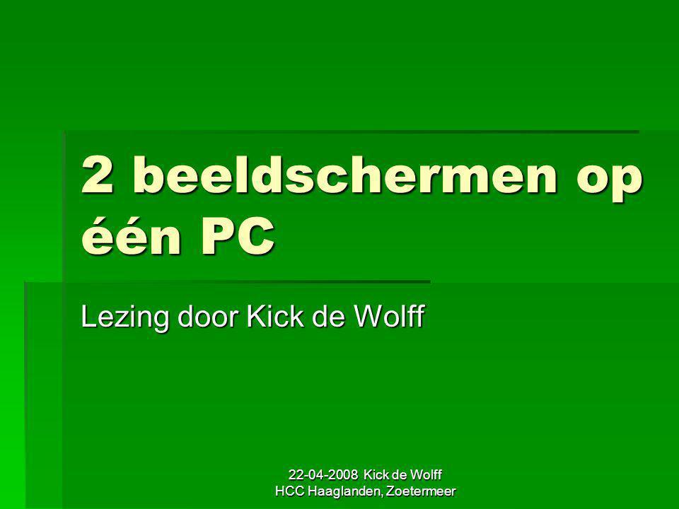 2 beeldschermen op één PC
