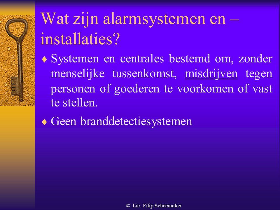 Wat zijn alarmsystemen en – installaties