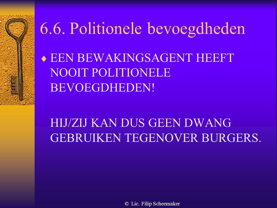 6.6. Politionele bevoegdheden