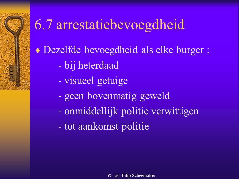 6.7 arrestatiebevoegdheid