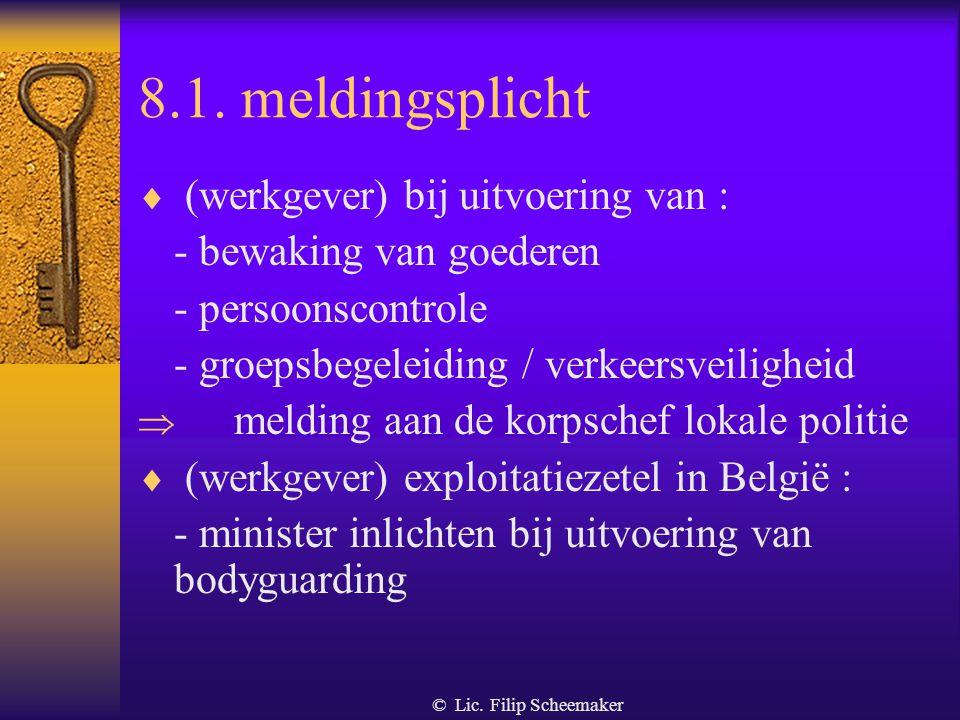 8.1. meldingsplicht (werkgever) bij uitvoering van :