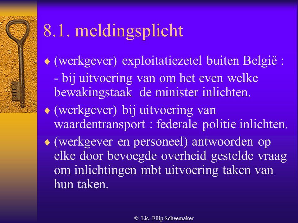 8.1. meldingsplicht (werkgever) exploitatiezetel buiten België :