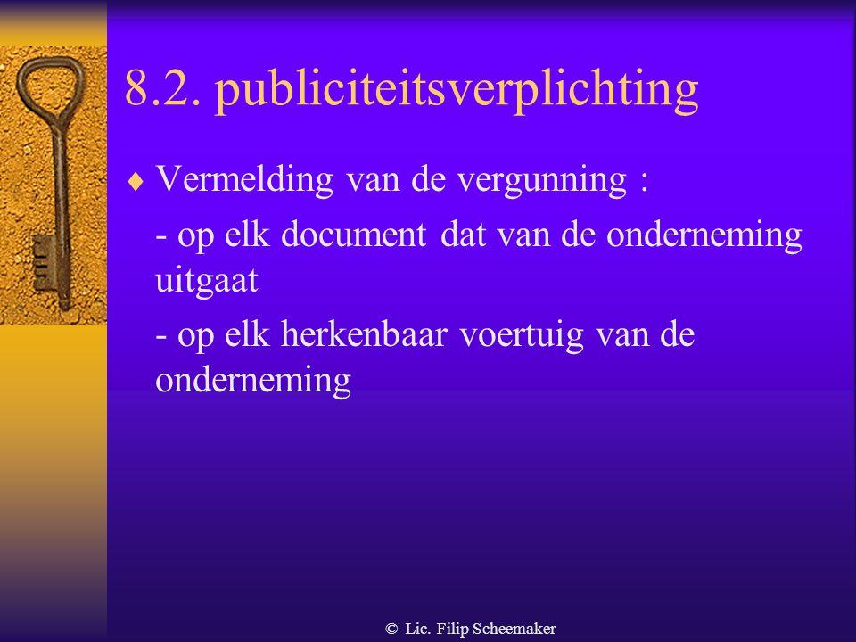 8.2. publiciteitsverplichting