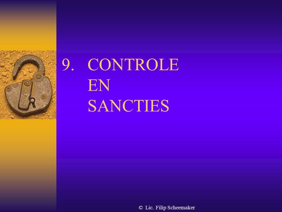 CONTROLE EN SANCTIES © Lic. Filip Scheemaker