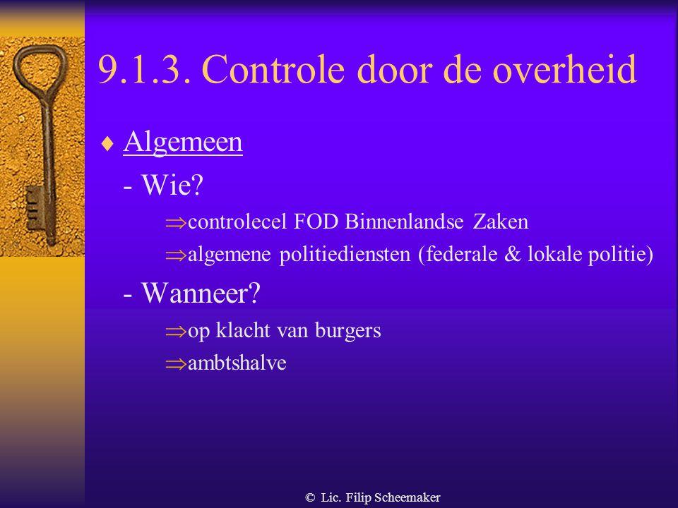 9.1.3. Controle door de overheid