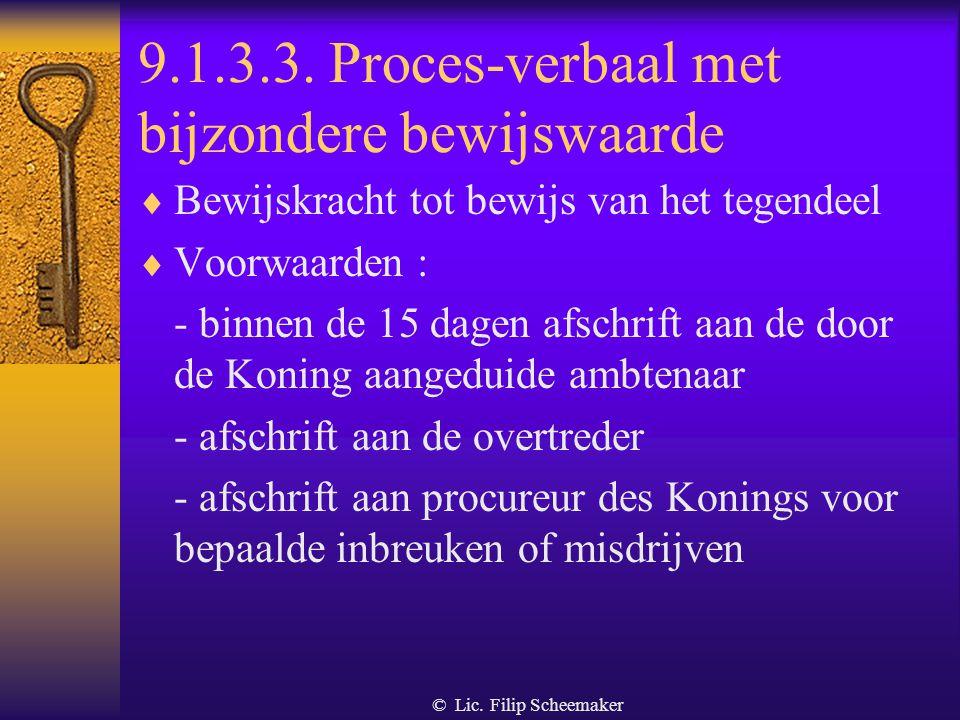 9.1.3.3. Proces-verbaal met bijzondere bewijswaarde