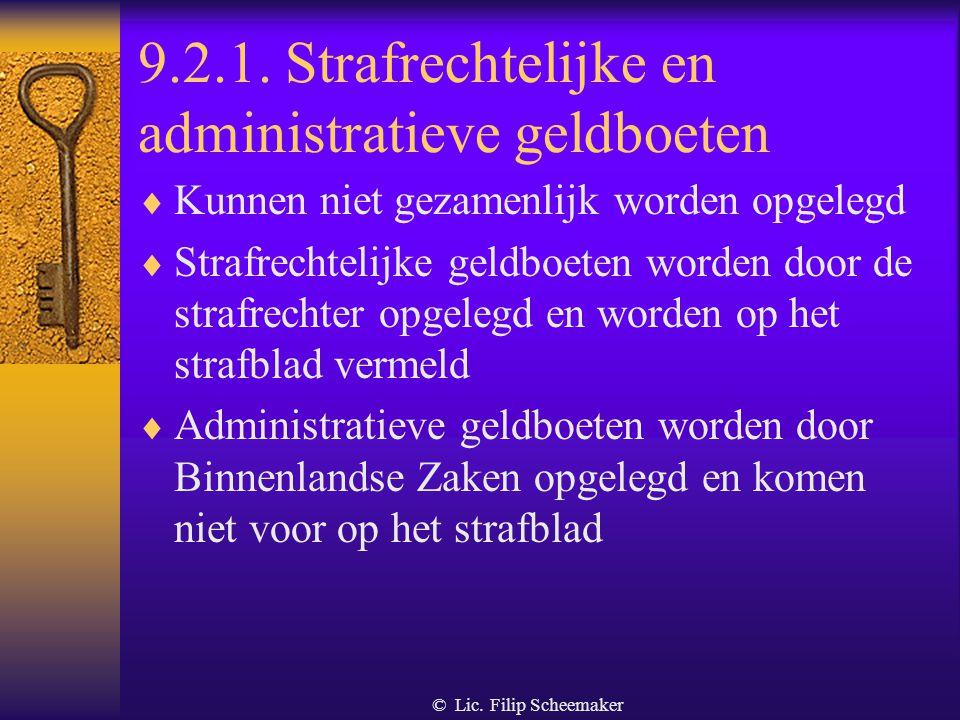 9.2.1. Strafrechtelijke en administratieve geldboeten