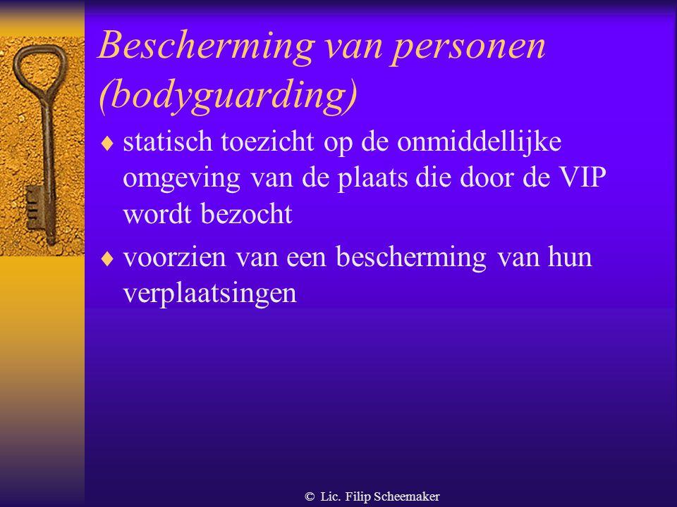 Bescherming van personen (bodyguarding)