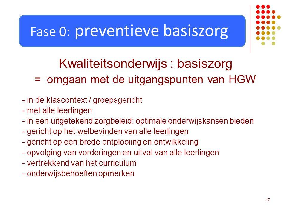 Fase 0: preventieve basiszorg