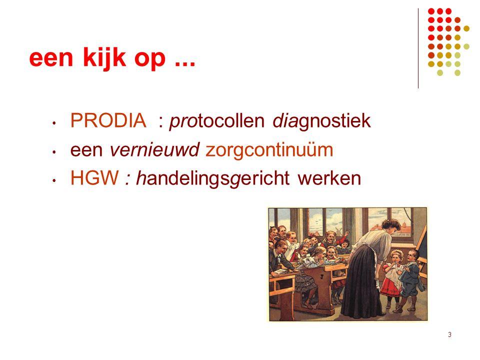 een kijk op ... PRODIA : protocollen diagnostiek